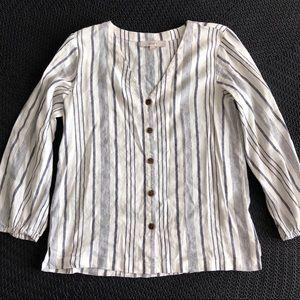 LOFT Linen Button-Down Shirt